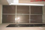 Шкаф встроенный. Двери стекло  с пленкой коричневый иней.