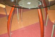 Стол с деревянными накладками